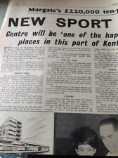 68-4 ephemera 1964 Full Page Article Margate New Bowling Centre Opens Excel