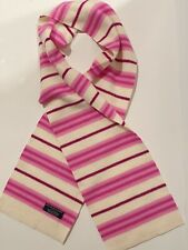 Authentic Burberry Brit Scarf 100% Lambswool Creme And Pink