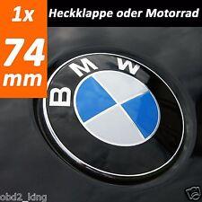 FITS BMW 1x 74mm blue white emblem trunk boot emblem for