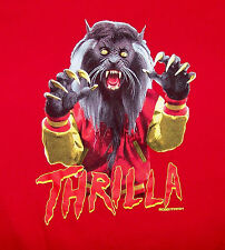 BOBBY FRESH BF / THRILLA / MONSTER SPOOKY SCARY HORROR / RED T-SHIRT SIZE XL