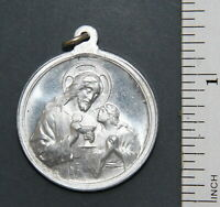 Antiquarian Catholic Medallion ''Remembrance Of First Holy Communion''