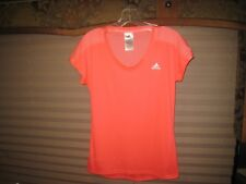 Adidas Women's Pink Short Sleeve Mesh Back Sleeve Workout T-Shirt S