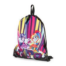 My Little Pony Equestria Girls Drawstring Bag Multi Bright Colors - NWT
