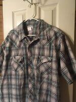 Wrangler Wrancher Western Pearl Snap 2XL Plaid Shirt Cowboy Style Size XXL