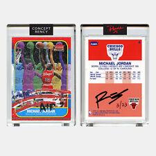 Jordan 1996 Fleer Rookie Card Multi-Image Art Diamond Dust RENCY Ltd & S/N of 23