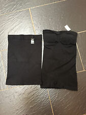 NEXT BLACK FIRM CONTROL STRAPLESS BODY SHAPER X2 SIZE 8/10 NEW £50