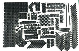 265x New Genuine Black Lego Technic Studless beams, Conectors