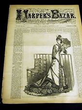 Harper's Bazar 8-11-1877 FASHION School School Children Rosalind As You Like It