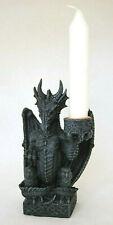 dunkler gothik Drache , Kerzenhalter 16 cm hoch, Fantasy Figur WGT