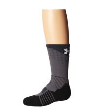 Under Armour Drive Basketball Crew Socks Sz YLG 1-4 1292874 Graphite NWT $17