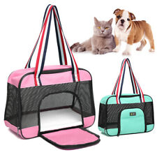 Comfort Pet Carriers Tote Dog Cat Mesh Sided Travel Crate Puppy Shoulder Bag S M