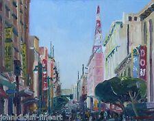 Downtown Los Angeles Broadway #2 Plein Air Impressionism Cityscape John Kilduff
