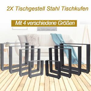 Tischgestell Tischkufen Tischbeine Schwarz DIY Esstisch Schreibtisch Gartentisch