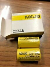 MXJO  IMR 18350 3.7V 700mAh 10.5A Hi Drain Rechargeable Battery, box of 2