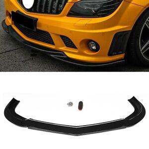 Gloss Black Front Bumper Splitter Lip For Mercedes Benz C-Class W204 C63 2008-11