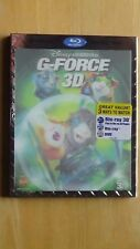 Disney G-FORCE 3D Blu-Ray 3D + Blu-Ray + DVD New with Lenticular Sleeve
