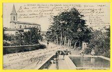 cpa Rare SEYSSES (Hte Garonne) LAVOIR de la CANETTE Rue Savignol Cheval Eglise