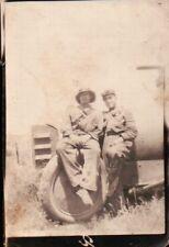 FOTO MILITARI DEL REGIO ESERCITO DAVANTI A BLINDATO - Lancia 1Z - AFRICA C9-187