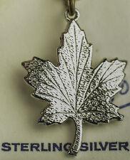""".925 STERLING SILVER MAPLE LEAF CHARM """"TWA"""" CANADIAN"""