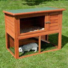 Rabbit Guinea Pig Wooden Hutch With Run Pet Outdoor Home Cage