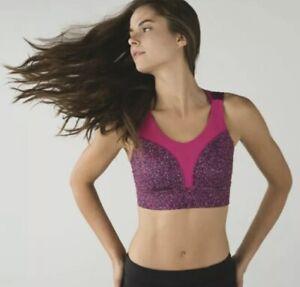 Lululemon Oxygen Sports Bra Pink Black Size 8
