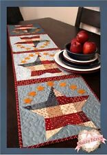 PATCHWORK PATRIOTIC TABLE RUNNER Shabby Fabrics Table pattern Quilting