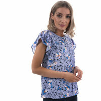 Womens Vero Moda Womens Isolde Frill Sleeve Top in Light Blue - 6
