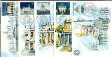 Vatican City 2000 Basilicas Vending Labels on 5 Maxi Cards