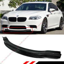 R STYLE CARBON FIBER FRONT BUMPER CENTER CHIN LIP SPOILER FOR 2012-2016 BMW M5