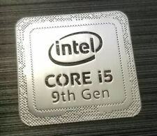 Intel Core i5 9th Gen Silver Chrome Sticker 18 x 18mm Case Badge
