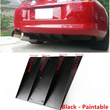 """Excellent 21.93""""x19.29""""ABS Universal Rear Bumper 4 Fins Diffuser Fin Black Style"""