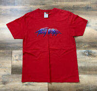 Vintage Tommy Hilfiger Cursive Logo Color Block Neck T Shirt Size S