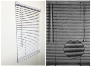 PVC Blind Steel Grey White Embossed Pattern Window Venetian Blinds Easy Fit Size