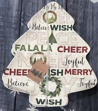 Aspen & Pine Christmas Tree Appetizer Plates Holiday Set Of 4 Melamine