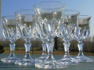 Cristal d'Arques - Service de 6 verres à vin rouge en cristal, modèle Chaumont