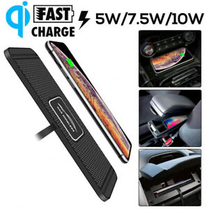 Qi Wireless Car Phone Charger Fast Charging Pad Mat For iPhone&Samsung Universal