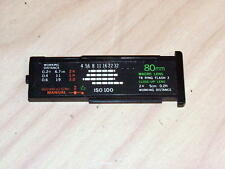 OLYMPUS OM T-8 80mm MACRO CALCULATOR PANEL WITH STICKER FOR T POWER CONTROL