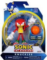Sonic the Hedgehog ~ KNUCKLES (WAVE 3) ACTION FIGURE w/BENDABLE ARMS & LEGS