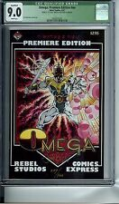 OMEGA: PREMIERE EDITION #NN CGC 9.0 WHITE PGS SIGNED 4 ARTWORK PANELS #227/1000