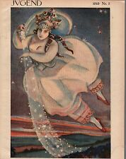 1919 Jugend February 4 German Art Nouveau Cover - Queen of heaven - Stars- Glass