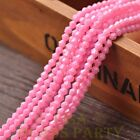 New 200pcs 4mm Bicone Faceted Lustrous Loose Spacer Glass Beads Pink Red