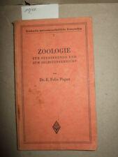 Zoologie für Studierende und zum Selbstunterricht,1939,Veterinär,Fachbuch