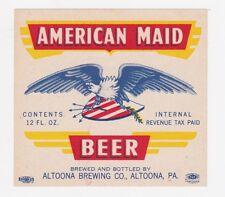 American Maid IRTP Beer Label