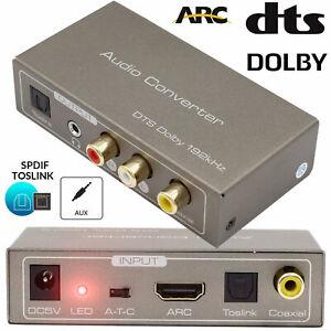 Digital Audio Converter ARC Toslink Coaxial To Optical Analog Jack RCA Splitter
