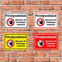 Schild - Privatgrundstück - Betreten für Unbefugte verboten! -S00356-007