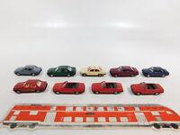 CG354-0,5# 9x Wiking H0/1:87 PKW BMW: 325i Cabrio + 320i + 750i + Taxi, NEUW
