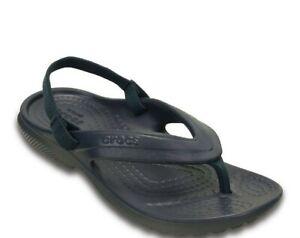 New Crocs Classic Flip Toddler Boys' Sandals Color: Navy Blue, Size: 6c NWT!