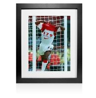 Framed Ian Wright Signed Arsenal Photo - 179  Autograph