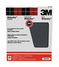 3M Pro-Pak Wetordry Between Finish Coats Sanding Sheets, 320A-Grit, 9-in by