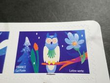 NOEL VOEUX FRANCE 2020, timbre AUTOADHESIF SPECTACULAIRE HIBOU NUIT neuf**, MNH
